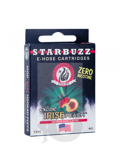 4 Cartuchos Starbuzz E-Hose - Irish Peach