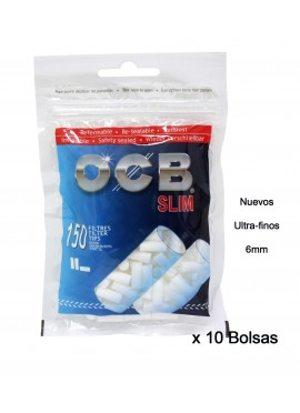 Pack de 10 Bolsas OCB Slim 150 (1500 Filtros de 6 mm)
