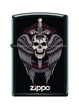 Zippo Winged Skulls
