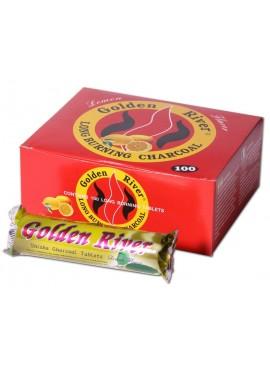 Paquete de Carbón Golden River 33 mm aroma limón