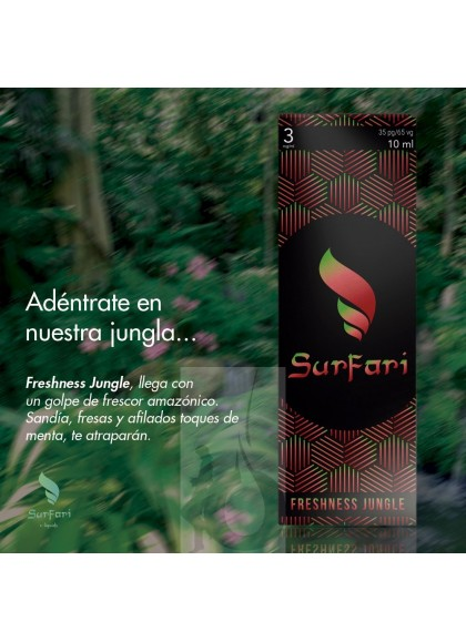 Surfari Freshness Jungle (Sandía, Fresas y Menta) 10 ml