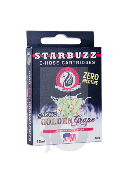 4 Cartuchos Starbuzz E-Hose - Golden Grape