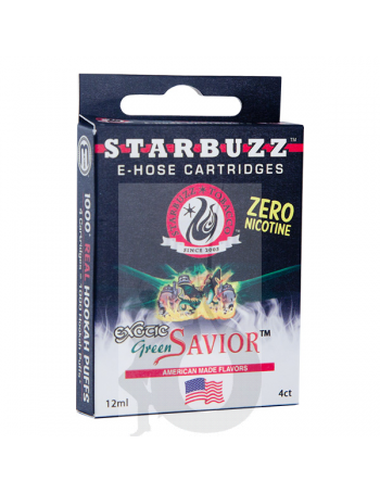 4 Cartuchos Starbuzz E-Hose - Green Savior