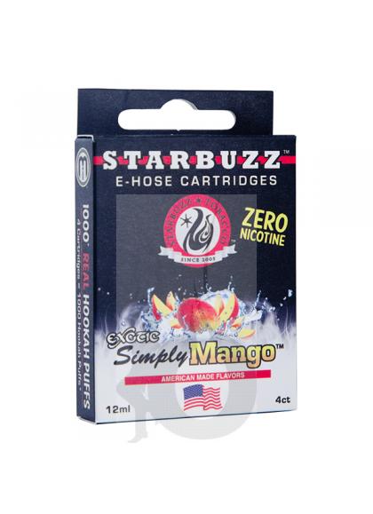 4 Cartuchos Starbuzz E-Hose - Simply Mango