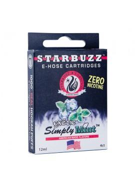4 Cartuchos Starbuzz E-Hose - Simply Mint
