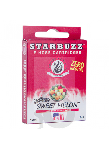 4 Cartuchos Starbuzz E-Hose - Sweet Melon