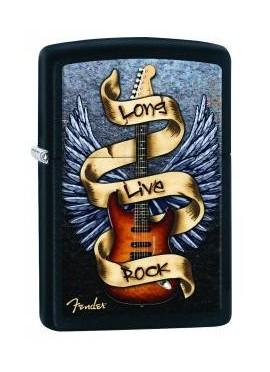 "Zippo Fender ""Long Live Rock"""
