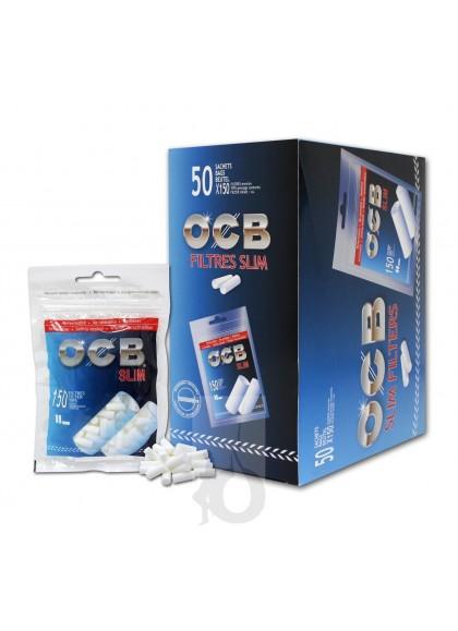 Pack de 5 Bolsas OCB Slim 150 (750 Filtros de 6 mm)