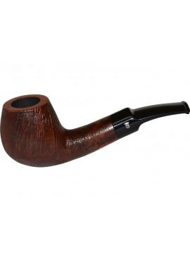 Pipa Stanwell Brushed Marrón Semi Curva