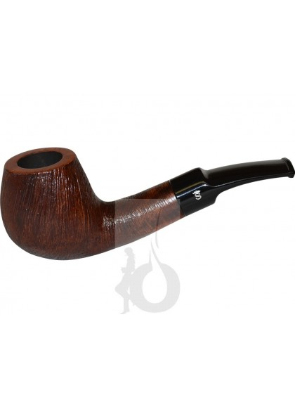 Pipa Stanwell Brushed Marrón Semi Curva