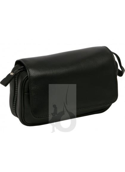 Bolsa de Piel Negra Peterson para 2 Pipas + Accesorios