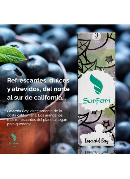 Surfari Emerald Bay (Arándanos) 10 ml