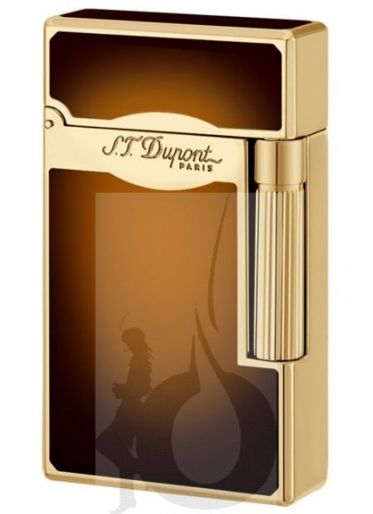 S.T. Dupont Ligne 2 Le Grand Sun Burst Brown Natural Lacquer Oro